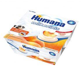 Humana Milk Minis Jogurta deserts ar persikiem 400g