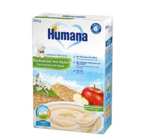 Humana Griķu, ābolu putra ar pienu, 200g