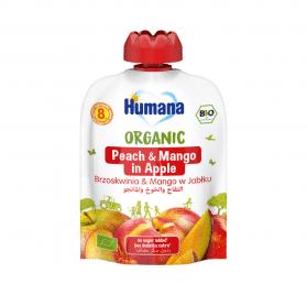 Humana BIO ābolu biezenis ar persikiem un mango 90g