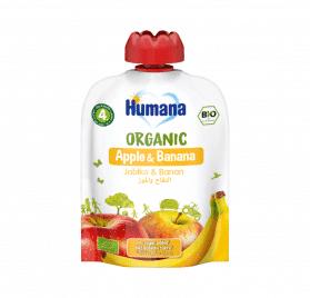 Humana BIO ābolu un banānu biezenis 90g