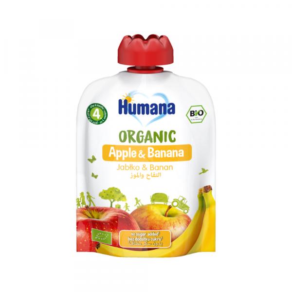 Humana BIO ābolu un banānu biezenis