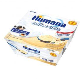 Humana Milk Minis Vaniļas mannas deserts ar kviešu graudiem 400g