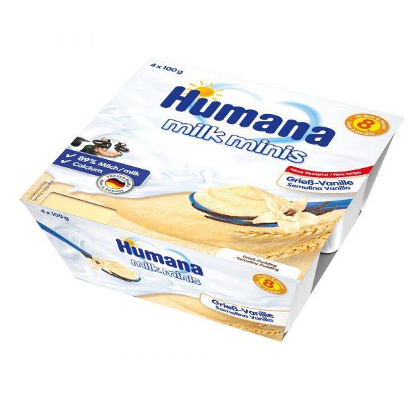 Humana Milk Minis vaniļas mannas deserts