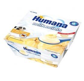 Humana Milk Minis Jogurta deserts ar banāniem 400g