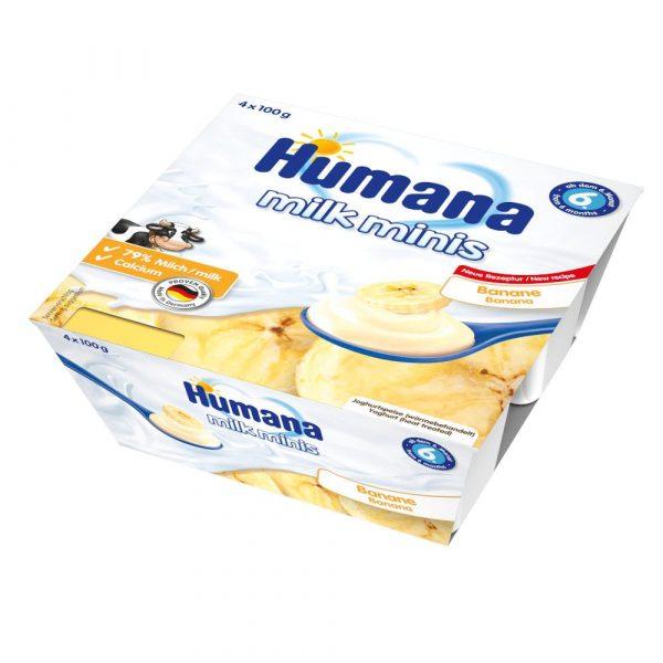 Humana Milk Minis jogurta deserts ar banāniem