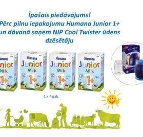 Humana Junior 1+ 600g +  NIP Cool Twister ūdens dzēsētājs