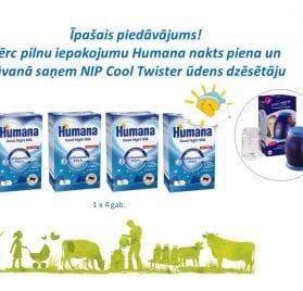 Humana Nakts piens 600g +  NIP Cool Twister ūdens dzēsētājs