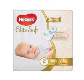 Huggies Elite Soft MP 2 jaunpiedzimušiem 4-7kg 80 gab.
