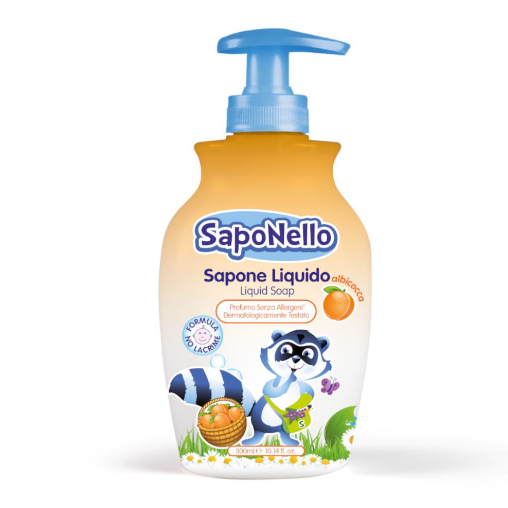 Saponello šķidrās ziepes bērniem Aprikožu