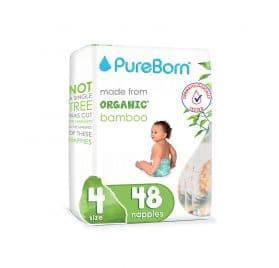 Pureborn Organic Bamboo autiņbiksītes 4 (7-12kg) 48gb