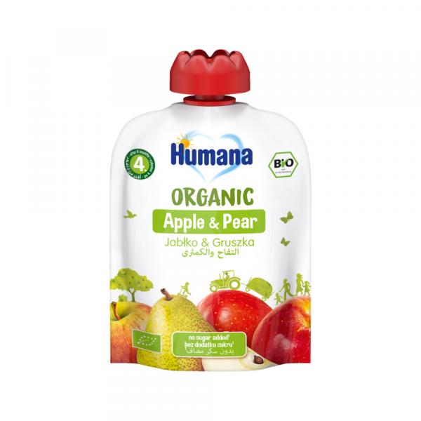 Humana BIO ābolu un bumbieru biezenis